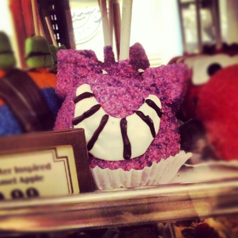 Cheshire Cat Candy Apple
